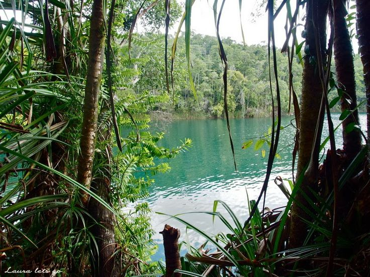 Laura lets go: Atherton Tablelands sceneries. Lake Eacham, QLD, Australia.