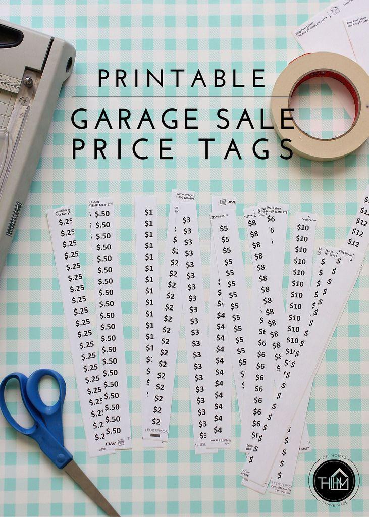 Free Printable Garage Sale Price Tags