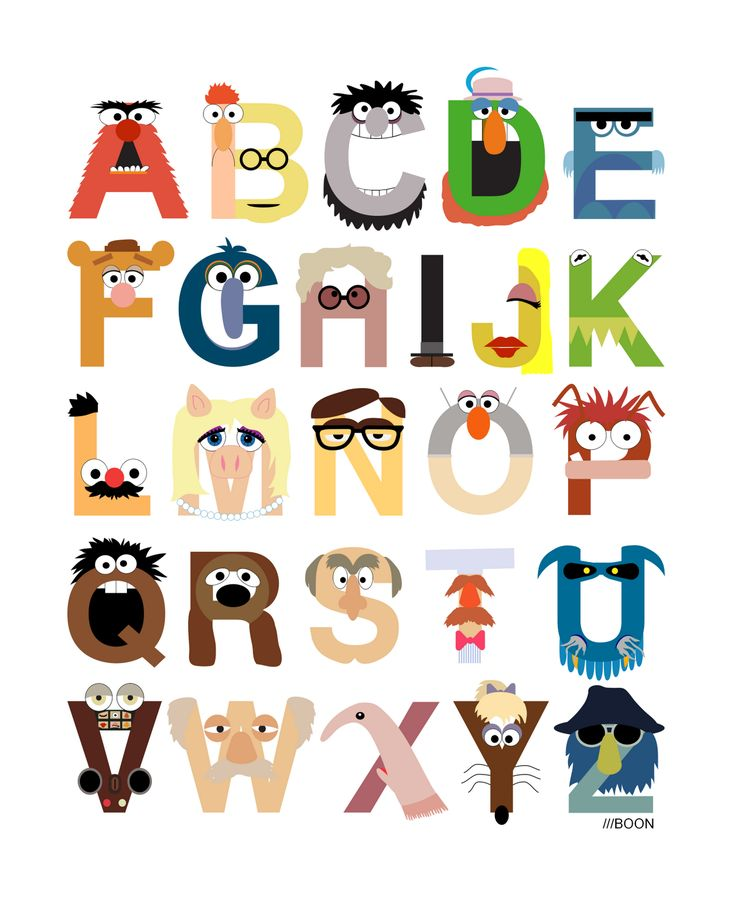 Muppet Alphabet...kinda weird and cool at the same time...but mostly weird :)