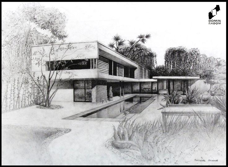 House in Japan drawn by Aleksandra Wieczorek in DOMIN Radom drawing school / Japoński dom narysowany przez Aleksandrę Wieczorek w szkole rysunku DOMIN Radom https://www.facebook.com/DominRadom?fref=ts