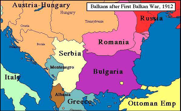 balkans 1912, after first balkan war
