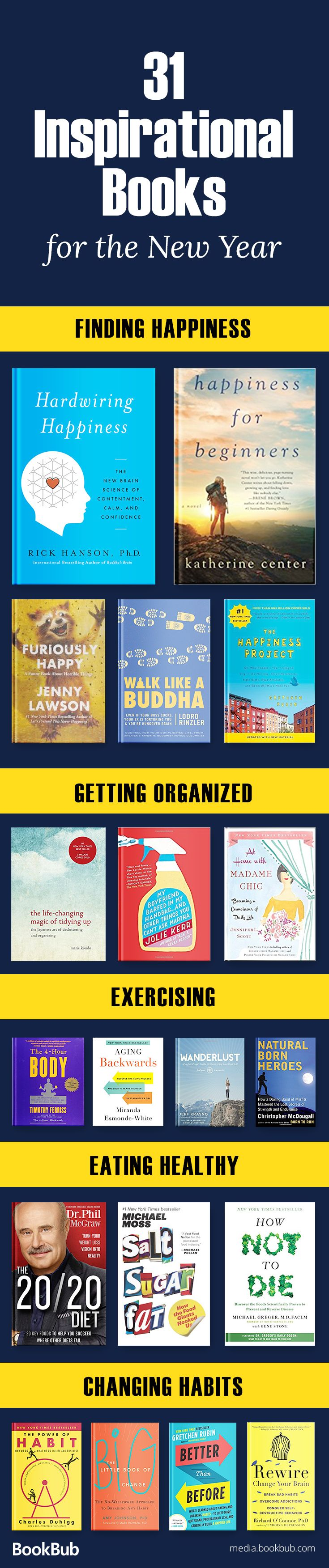 Check out our reading list of inspirational books, featuring motivational nonfiction, books to read 2018, life changing books for women, self help books, books with life lessons, and more.
