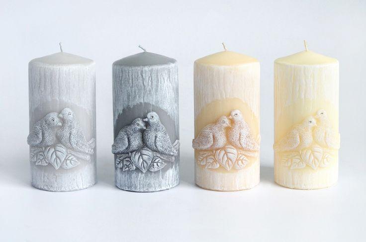 Svíčky s ptáčky