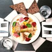 Poireaux vinaigrette du Café Pinson - une recette Léger et équilibré - Cuisine