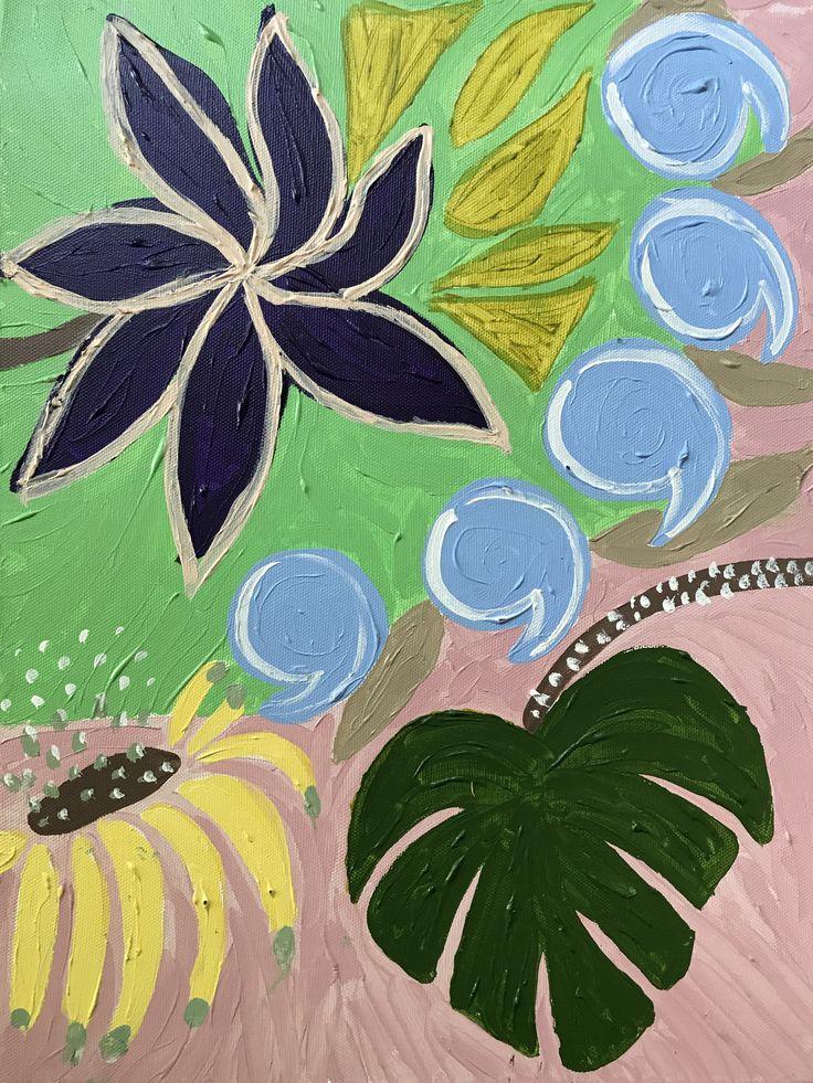 By Ehses #Flowerpainting #acrylicpainting