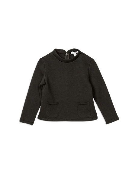 Charlie&me - - high neck cropped sweatshirt - W6CG20001 - black - 2 to 10