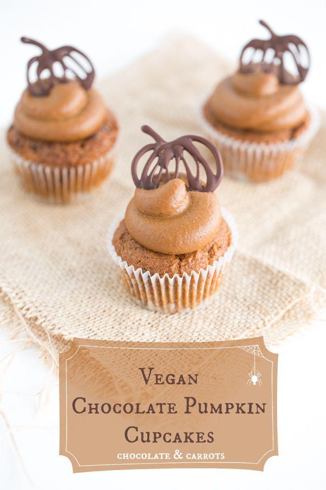 vegan chocOlate pumpkin cupcakes