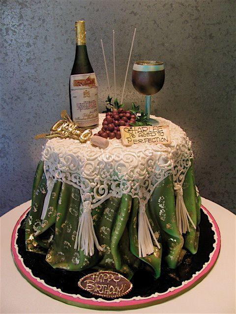 Cake MESA CON BOTELLA DE CHAMPANGE Y COPA