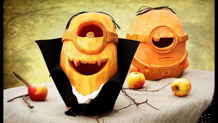DIY Minion Pumpkin