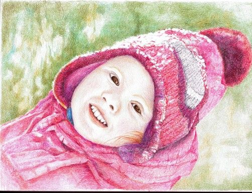 Portrait of a child,Would grandma like one of your child