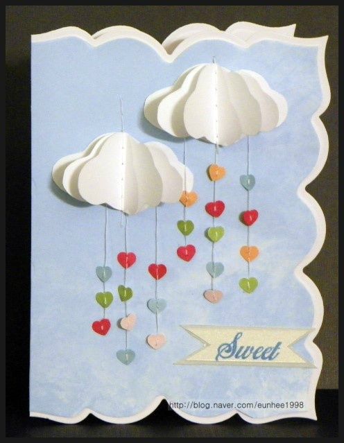 cloud card.. reallly like the shape of this card