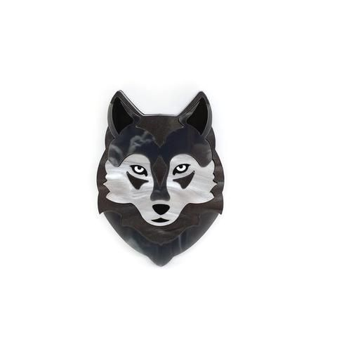 Willow the Wolf Brooch - The Eclectic Squirrels (Jul17)