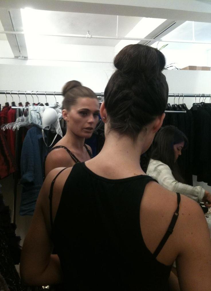 Backstage beauties! #Jovani #JovaniFashions #FashionModels #Models #Buns