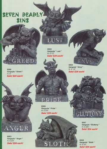 7 Deadly Sins Meanings   The Seven Deadly Sins according to Gargoyles.