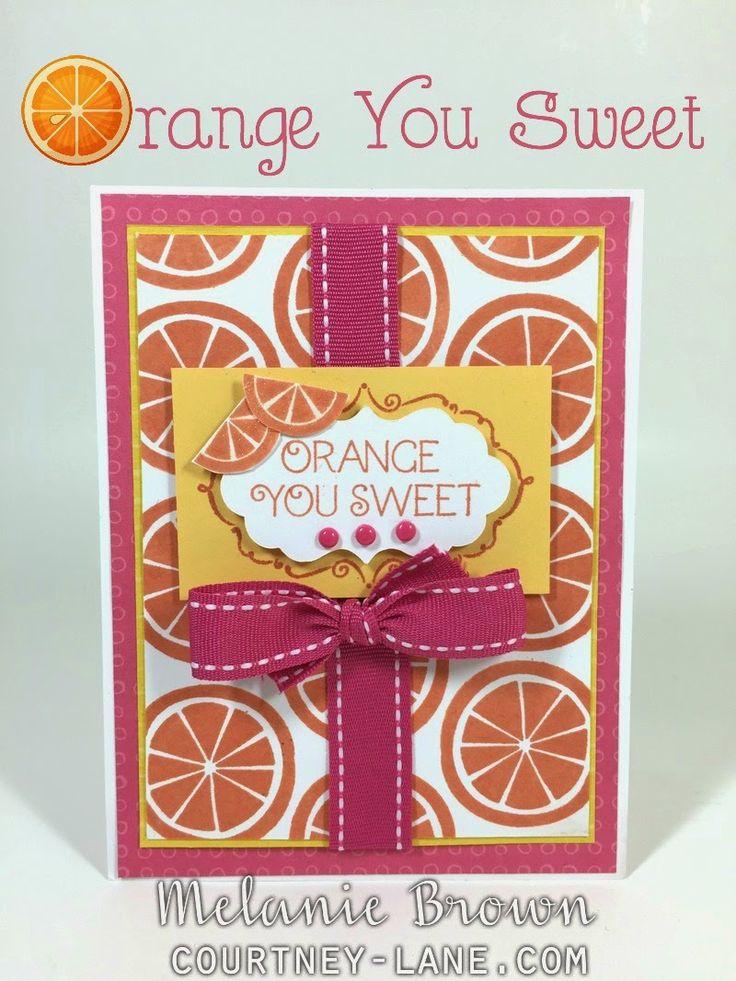 Orange You Sweet card #ctmhtos