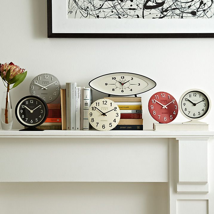 Buy Thomas Kent Cotswold Mantel Clock, Grey Online at johnlewis.com