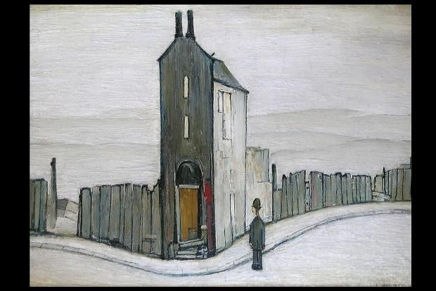 The Derelict House by L.S. Lowry