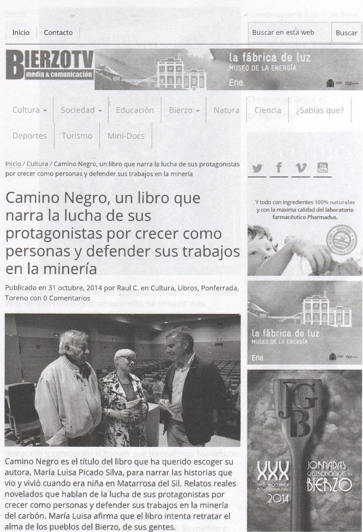 Reportaje de la presentación de la novela CAMINO NEGRO