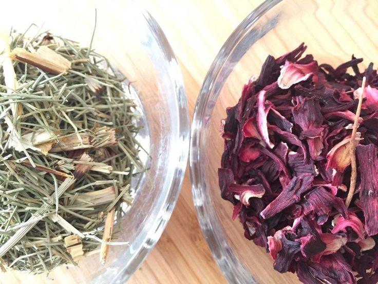 chá de hibisco e cavalinha