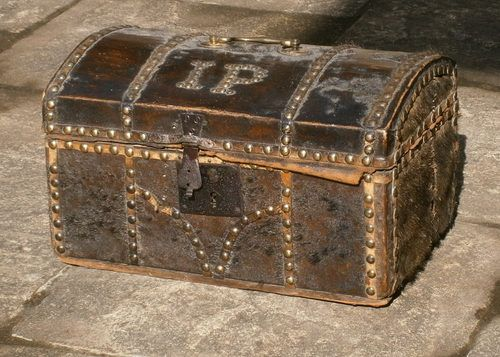 18th Century Pony Skin Trunk Of Small Size.