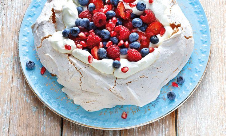 Coconut Pavlova with Berries