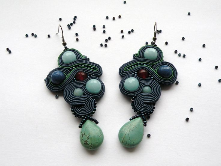 Kolczyki sutache #sutasz #soutache #earrings