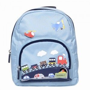 Cute, little backpack with a train imprint - every school pupil will love it!