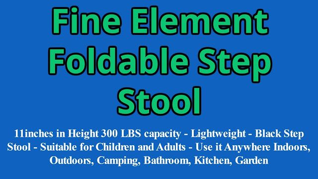 Test + Try =Results                   : Fine Element Foldable Step Stool