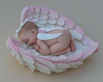 1 Fondant girl/ christening / baptism cake topper by LuliSweetShop