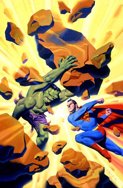 The Incredible Hulk vs Superman by Steve Rude