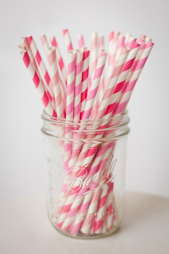 30 rietjes van papier... Roze Mix ingesteld van shoppe3130 op Etsy