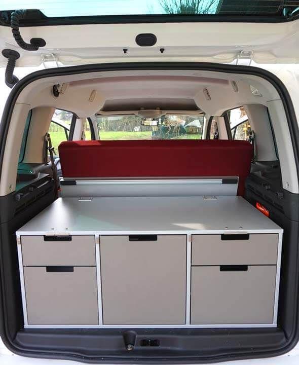 Bushack #2 Ikea Regal als Heckstauraum | Vw campingbus