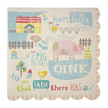 Happy Little Farm Napkins: Amazon.fr: Jeux et Jouets