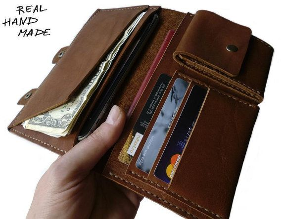 Leather Travel Wallet iPhone 6 PLUS Men Wallet от MyLeatherCase
