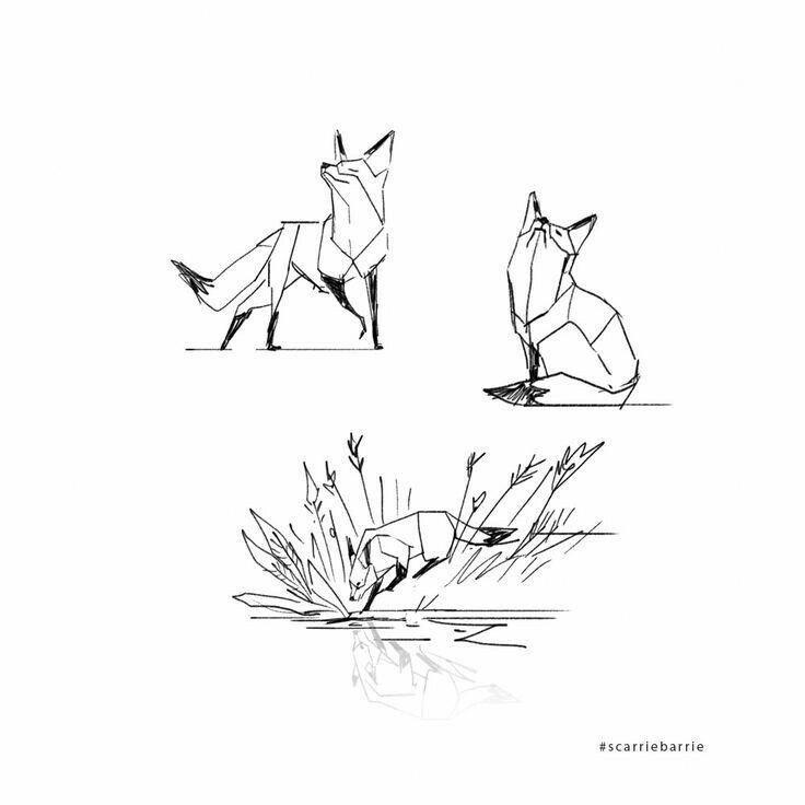 Geometric Fox Geometrictattoos Fox Artwork Fox Tattoo Design Geometric Fox