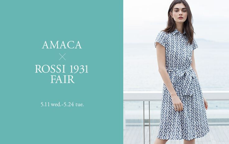 """""""The Italian Beauty."""" by Amaca. Rossi 1931 holds an important partnership, in the fashion industry, with the Japanese lady's brand AMACA by SANYO SHOKAI. Some of the most famous floral designs of Rossi 1931, were used in the creation of new AMACA collection."""
