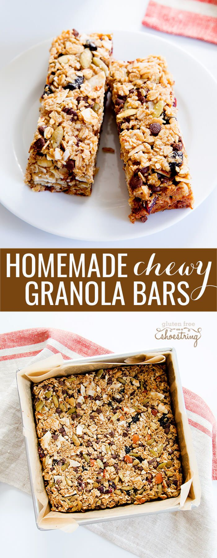 This chewy homemade granola bar recipe is endlessly customizable with ...