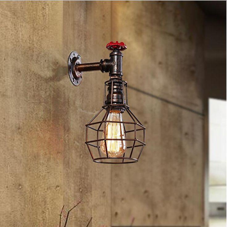 Goedkope Amerikaanse vintage wandlamp loft iron wandmontage naast en neer licht industriële wandlampen Retro Industriële Badkamer, koop Kwaliteit wandlampen rechtstreeks van Leveranciers van China:  waarschuwingen:de item omvatten niet de lampen!1. Voltage: AC220V2. Kleur: zwart of roestig kleur4. lichtbron typ