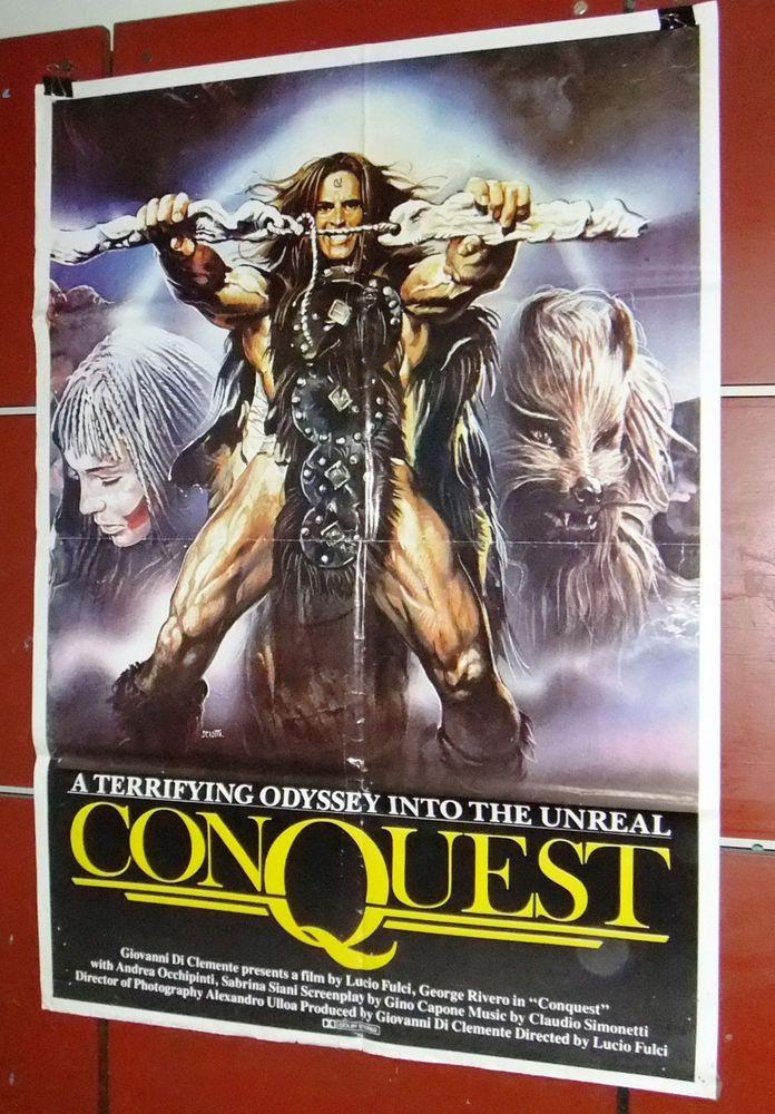 Conquest Giovanni Clemente vintage movie poster print