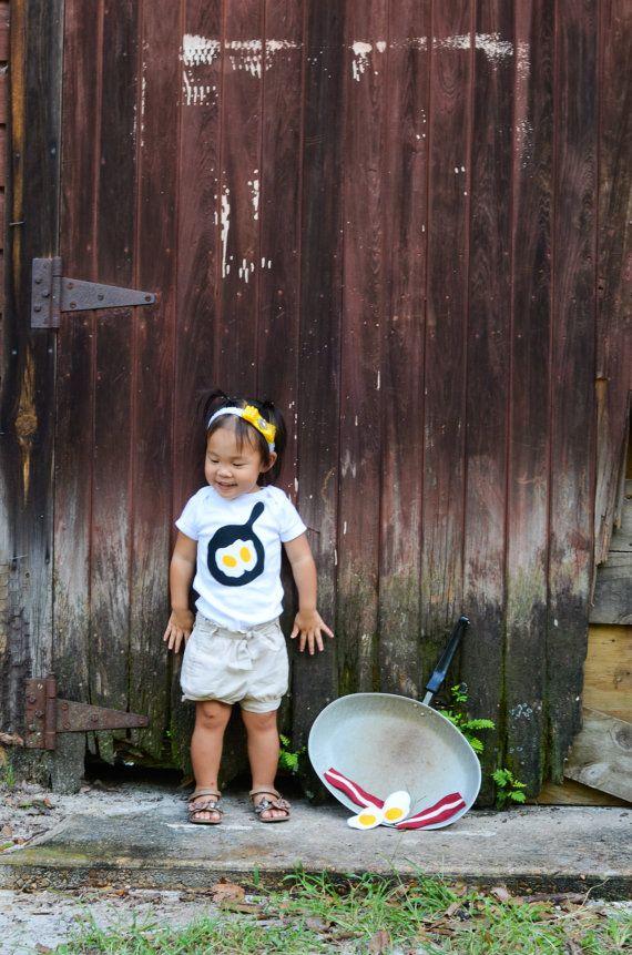 Eggs Shirt Baby Shower Idea Bacon Shirt by TheWishingElephant