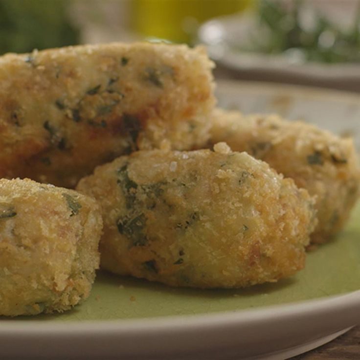 Try this Chicken and Serano Ham Croquettas with Padron Peppers recipe by Chef James Martin. This recipe is from the show James Martin's Home Comforts.