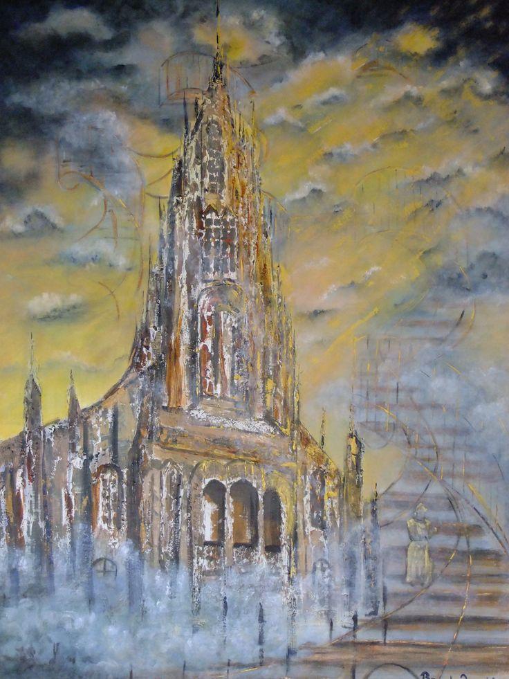 "Prophetic art series 1:  ""Lofty Ascent"" Amos 9:6"
