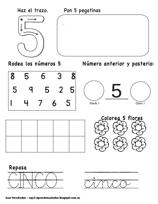 Ana Fernández – aqui-aprendemostodos.blogspot.com.es . CINCO cinco Añade 1 Quita 1
