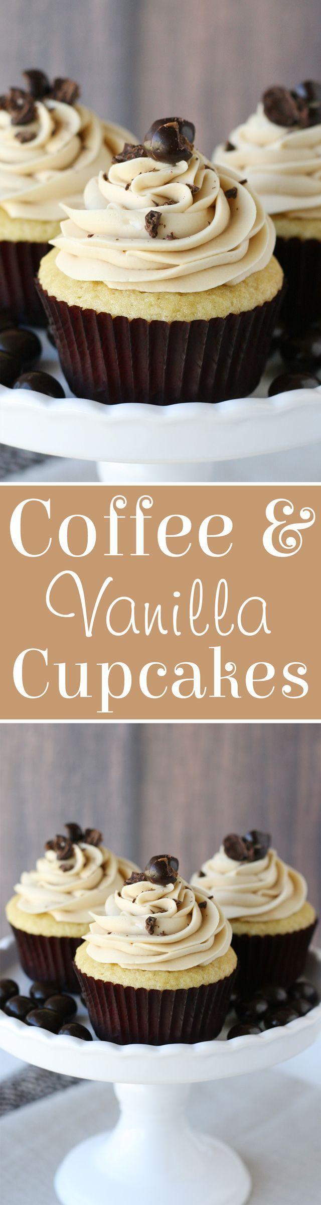 Vanilla Cupcakes with Coffee Buttercream Recipe