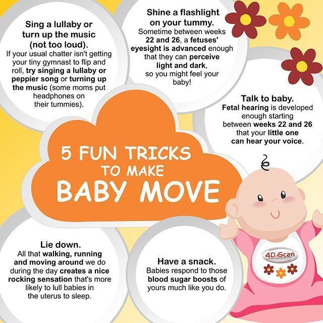 5 Tricks To Make Baby Move😁🐥Read more :http://4dscan.co.za/index.php/4d-news/pregnancy-news/entry/your-baby-s-movements-during-pregnancy🗞  Link in bio✒ #pregnancy #pregnancyfacts #pregnancylife #4dscan #diagnosticscan #4dtechnology #infographic #baby