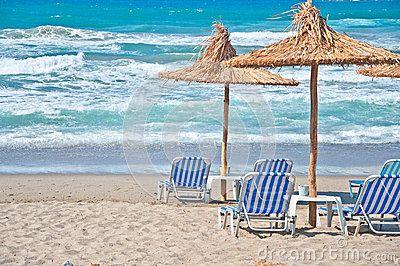 Beach in Agia Marina, Crete