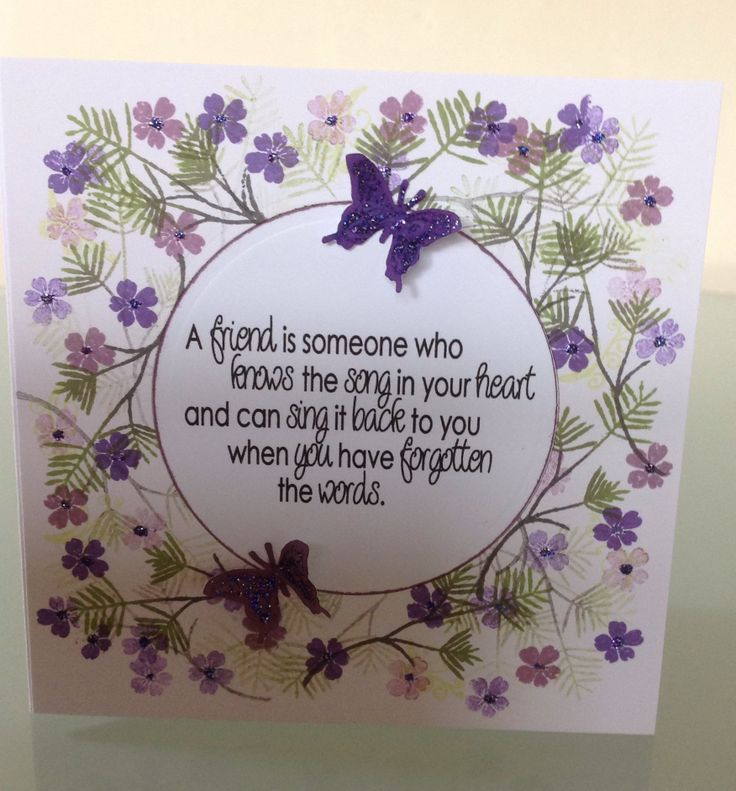 Card made using Cardio-Majestic Home Tweet Home stamps and a digi sentiment