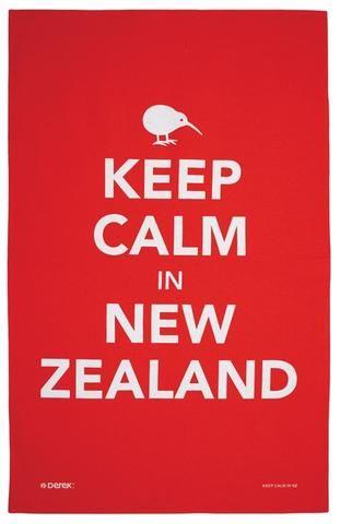 Keep Calm in NZ Tea Towel