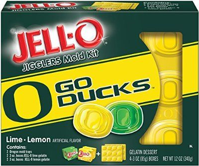 JELL-O Dessert Mold Kit, University of Oregon, 12 Ounce:Amazon:Grocery & Gourmet Food