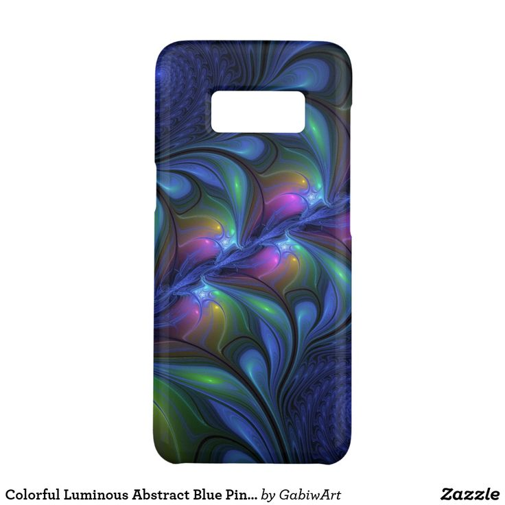 Colorful Luminous Abstract Blue Pink Green Fractal Case-Mate Samsung Galaxy S8 Case